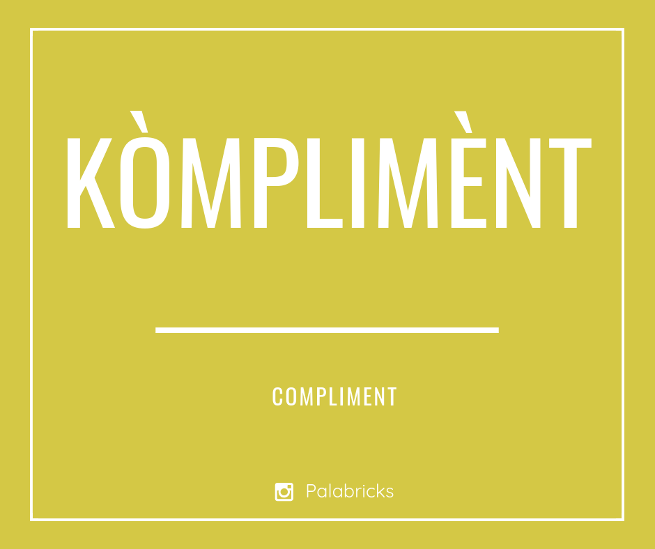geef eens een compliment