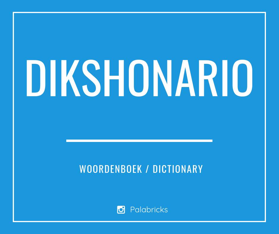 DIKSHONARIO woordenboek papiaments